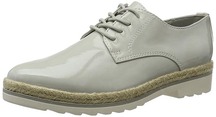 23713, Oxfords Femme, Gris (Grey Patent 242), 39 EUMarco Tozzi