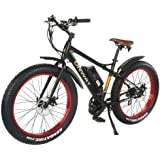 """Onway 26"""" 750W 7 Speed Snow & Beach Fat Tire Electric Bike, All Terrain Using with Pedal Assist and Throttle"""