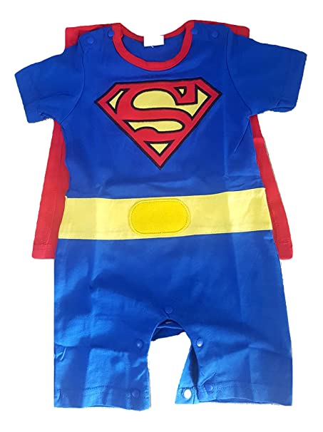 Onesie Superman Traje de Mameluco recién Nacido Super Hombre ...