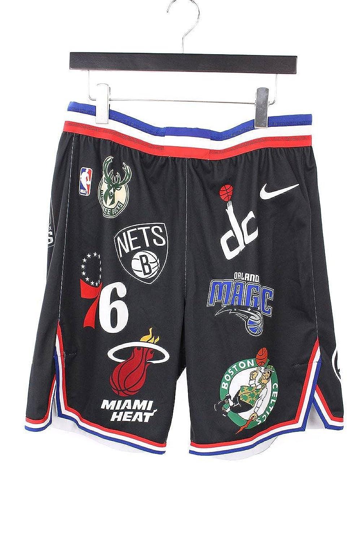 (シュプリーム) SUPREME ×ナイキ/NIKE 【18SS】【NBA Teams Authentic Short】総ロゴゲームハーフパンツ(38/ブラック調) 中古 B07FFMW9C9