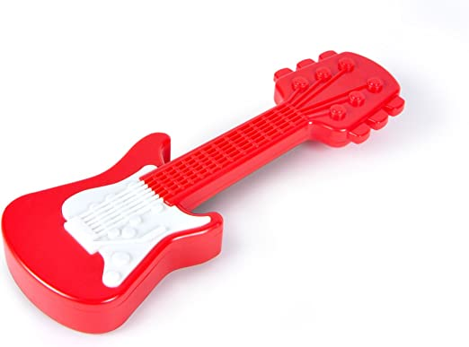 Fred RATTLE AXE Guitar Baby Rattle Music Rock Cute Toy Baby Shower Gift Red