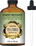 Tea Tree Oil (Australian) 4 Fl.oz. with Glass Dropper 100% Pure and Natural Therapeutic Essential Oil to Help in Fighting Dandruff, Acne, Toenail Fungus, Yeast Infections, Cold Sores & More.