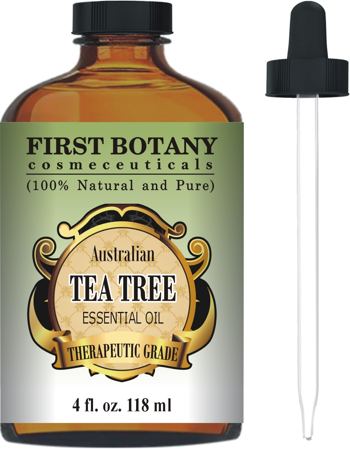 First Botany Cosmeceuticals Australian Tea Tree Oil, 4 fl. oz. with Glass Dropper