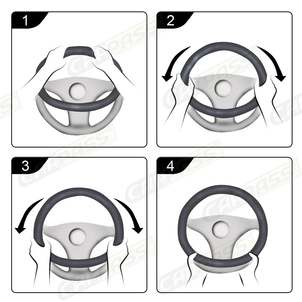 CAR PASS Double Layers Cool Universal Leather Steering Wheel Cover with Perforated Breathable Design,Fit for Cars,Suvs,Sedans,Trucks