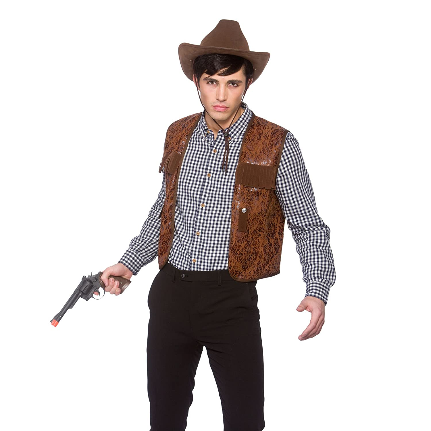 Adults Cowboy Western Wild West Fancy Dress Up Paty Costume Outfit - One Size Amazon.co.uk Clothing  sc 1 st  Amazon UK & Adults Cowboy Western Wild West Fancy Dress Up Paty Costume Outfit ...