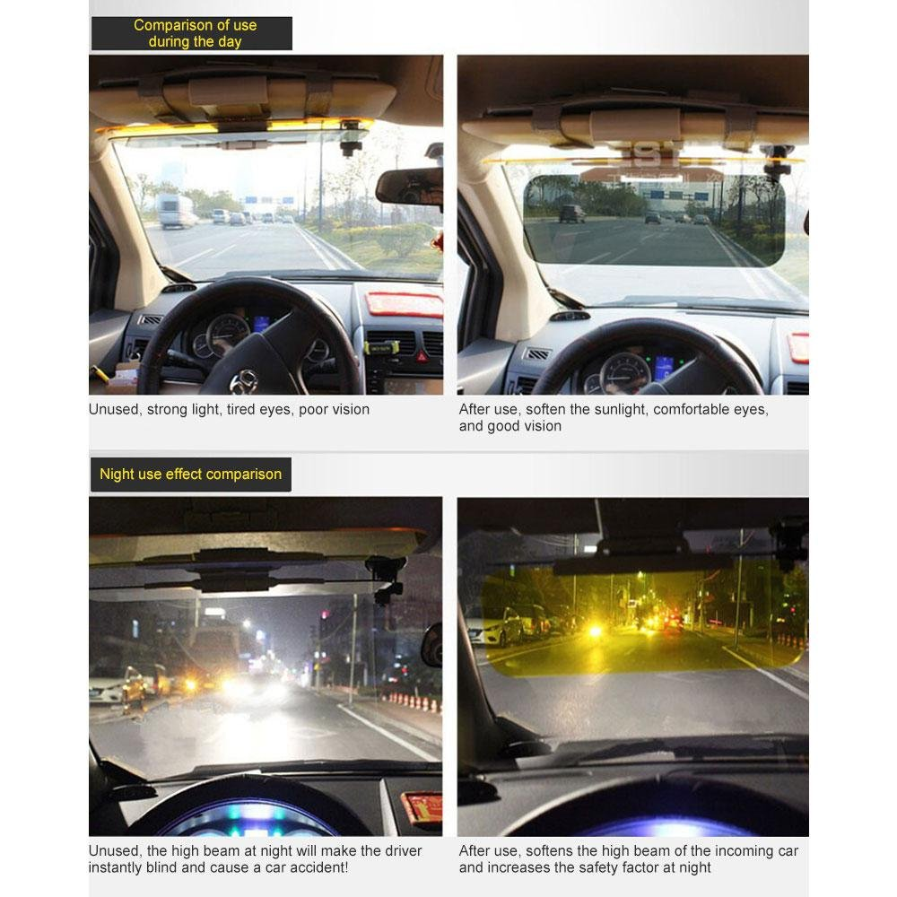 Auto Sonnenschutz Frontscheibe SUVS Tag und Nacht Auto-Blendschutz-Visier LKWs Sonnenblende Verl/ängerung f/ür Auto