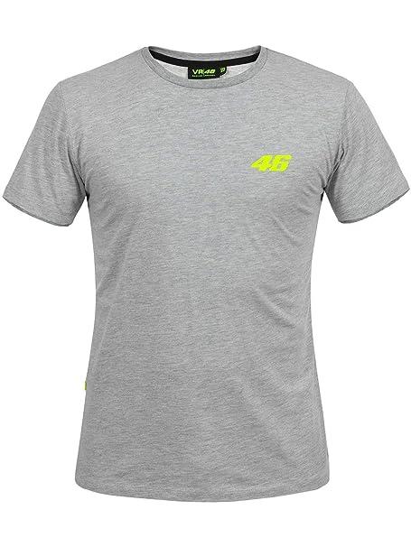 Valentino Rossi Camiseta Core Small 46 Gris (XL, Gris)