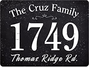 ICRAEZY Customizable Personalized House Sign Personalized Address Plaque - Rectangular Durable Sign Display House Number and Street Name - Custom Wall Mounted - Great Housewarming & Decor Gift Under