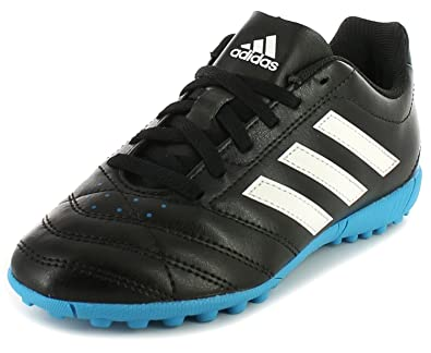 e45a29a5044b New Boys/Childrens Black Adidas Goletto V Tf J Astro Turf Shoes - Black/