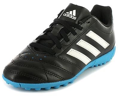 a63696b68eac New Boys/Childrens Black Adidas Goletto V Tf J Astro Turf Shoes - Black/
