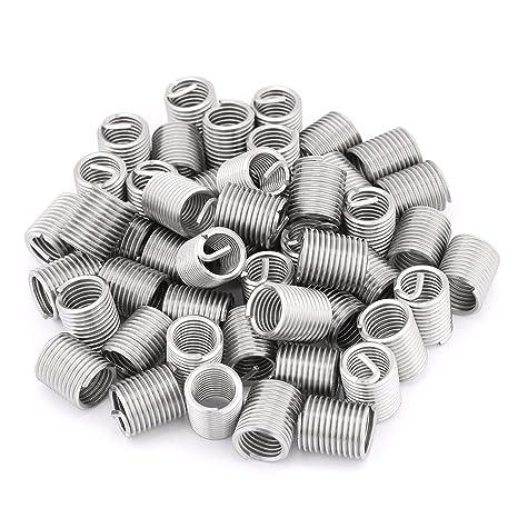 50 piezas de insertos de hilo de alambre de acero inoxidable ...