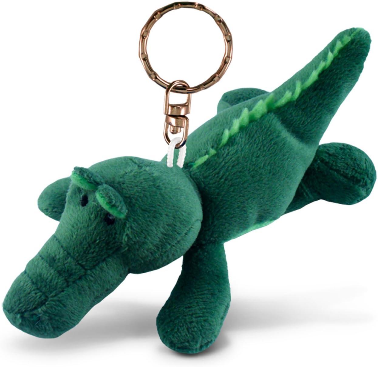 Puzzled Alligator Plush Keychain