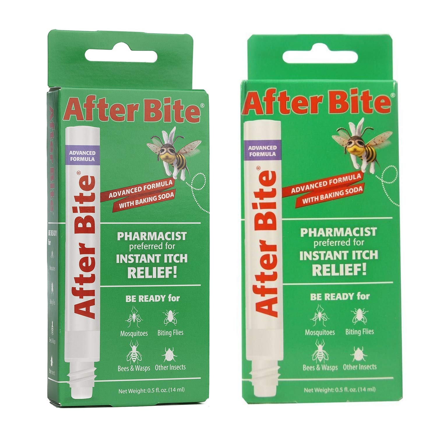 Insect Bite Treatment, 0.5-Ounce (4 Pack) with Itch Eraser (Pen) 14 ml (Pack of 5) by After Bite