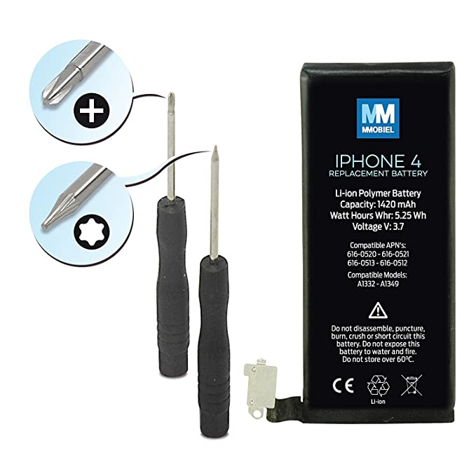 Battery Replacement for iPhone 4 A1349 A1332 Li-Ion 3.7V ... on
