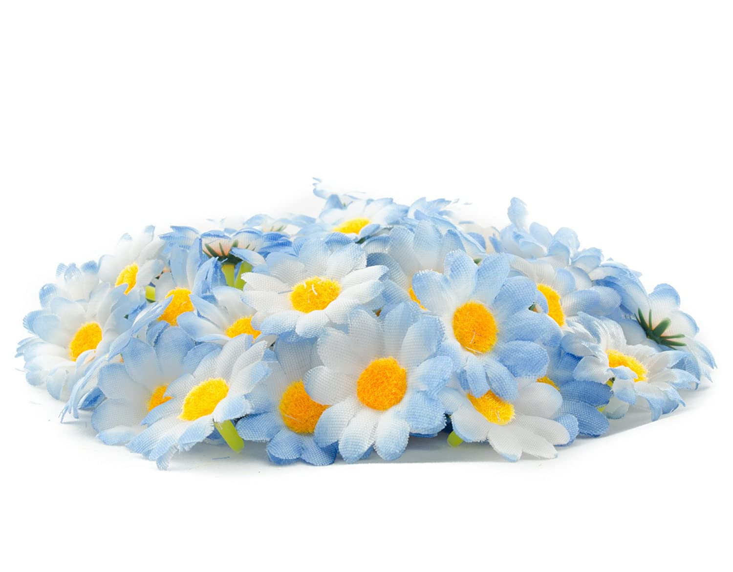Approx 100pcs Artificial Gerbera Daisy Silk Flowers Heads For Diy