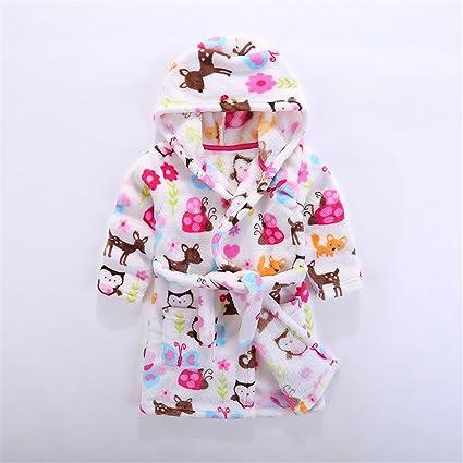 MIWANG Creativa moderna 2017 Invierno) niños batas, sello franela bebe durmiendo vestido, 110