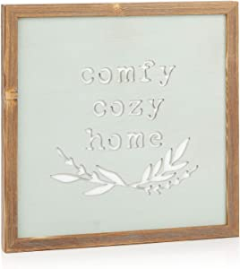 ReLIVE Decorative Expressions 12x12 Wooden Sign Comfy Cozy Home