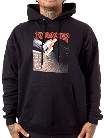 THRASHER Sudadera con Capucha China Banks Negro (Top M, Negro)