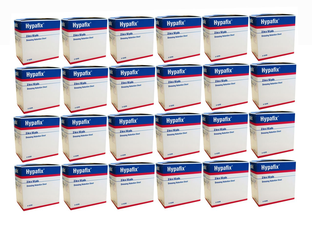 Hypafix Dressing Retention Tape: 2'' X 10 Yds Each - Case of 24 Boxes