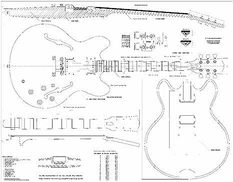 Set de 2 – Planes para guitarra Gibson ES-335 y Gibson CS-356 ...