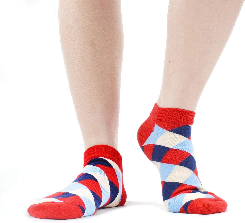 WeciBor Calcetines cortos Mujer Estampados Mujer Ocasionales Calcetines Divertidos Impresos de Algod/ón de Pintura de Arte Calcetines Verano Tobillo Calcetines de Colores de moda