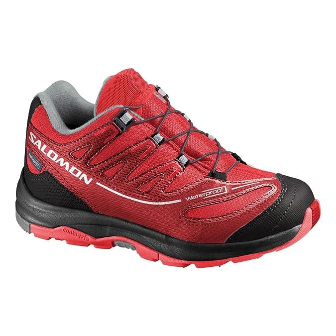 Salomon Zapatos para Niños Kids XA Pro 2WP -K Negro Asfalto Aluminio Negro: Amazon.es: Zapatos y complementos