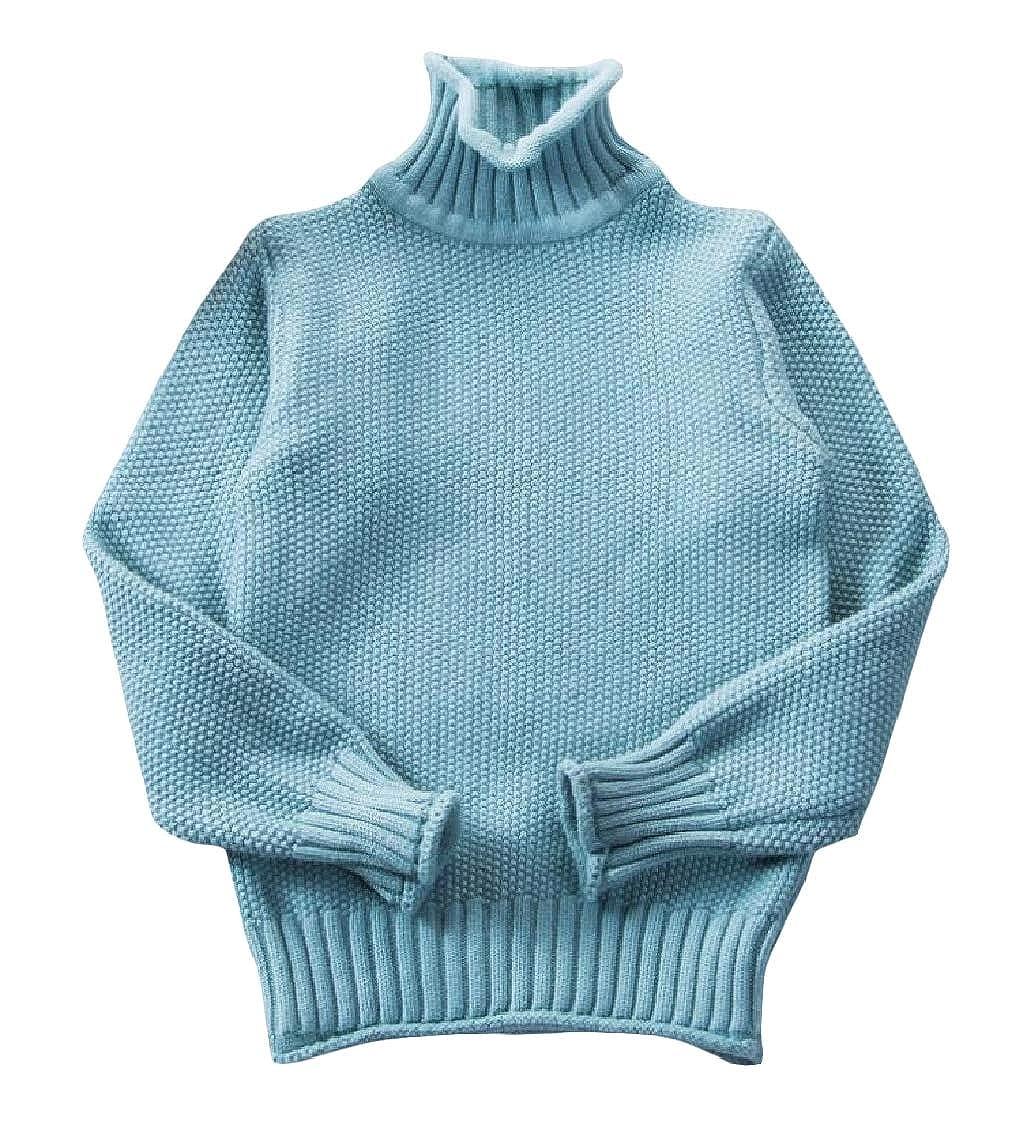 pipigo Girl Stretch Boys Cute Jumper Turtle Neck Sweaters