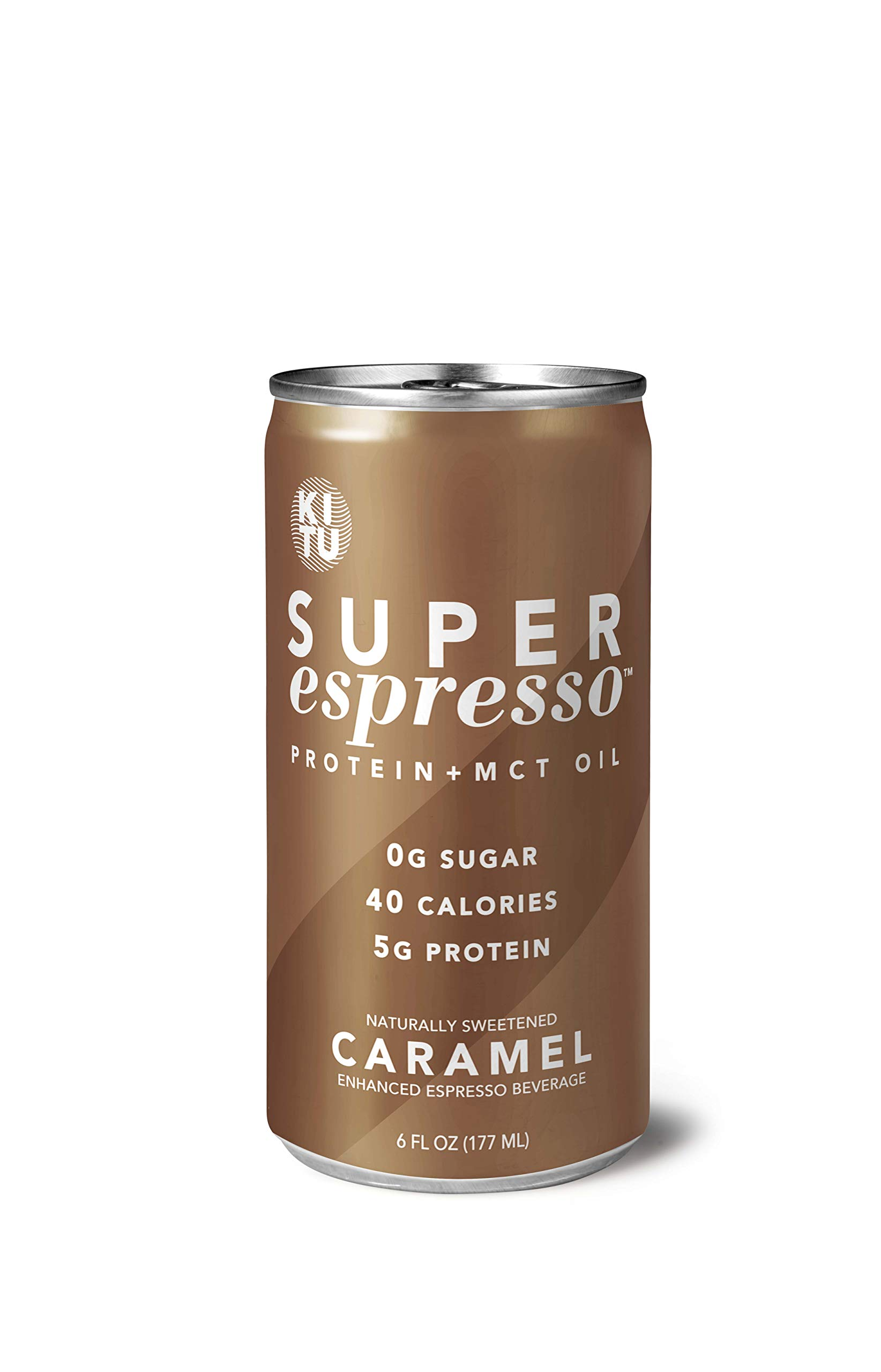 Kitu by SUNNIVA Caramel Super Espresso with Protein and MCT Oil, Keto Approved, 0g Sugar, 5g Protein, 40 Calories, 6 fl. oz, Pack of 12 by SUNNIVA SUPER COFFEE