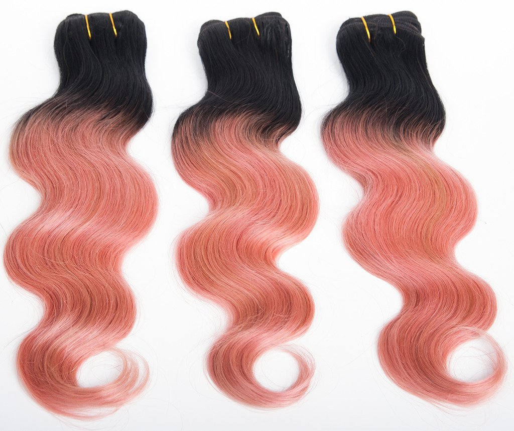 Amazon ombre hair extensions 7a grade ombre rose gold amazon ombre hair extensions 7a grade ombre rose gold brazilian virgin hair 3 bundles 300g body wave ombre remy human hair weave 12 14 16 inch pmusecretfo Choice Image