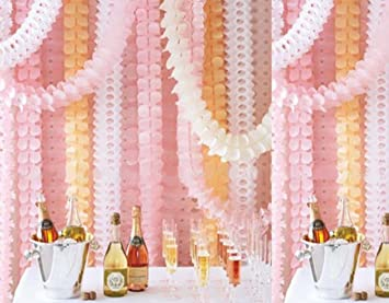 life glow hanging garland four leaf tissue paper flower garland reusable party streamers for party - Tissue Paper Decorations