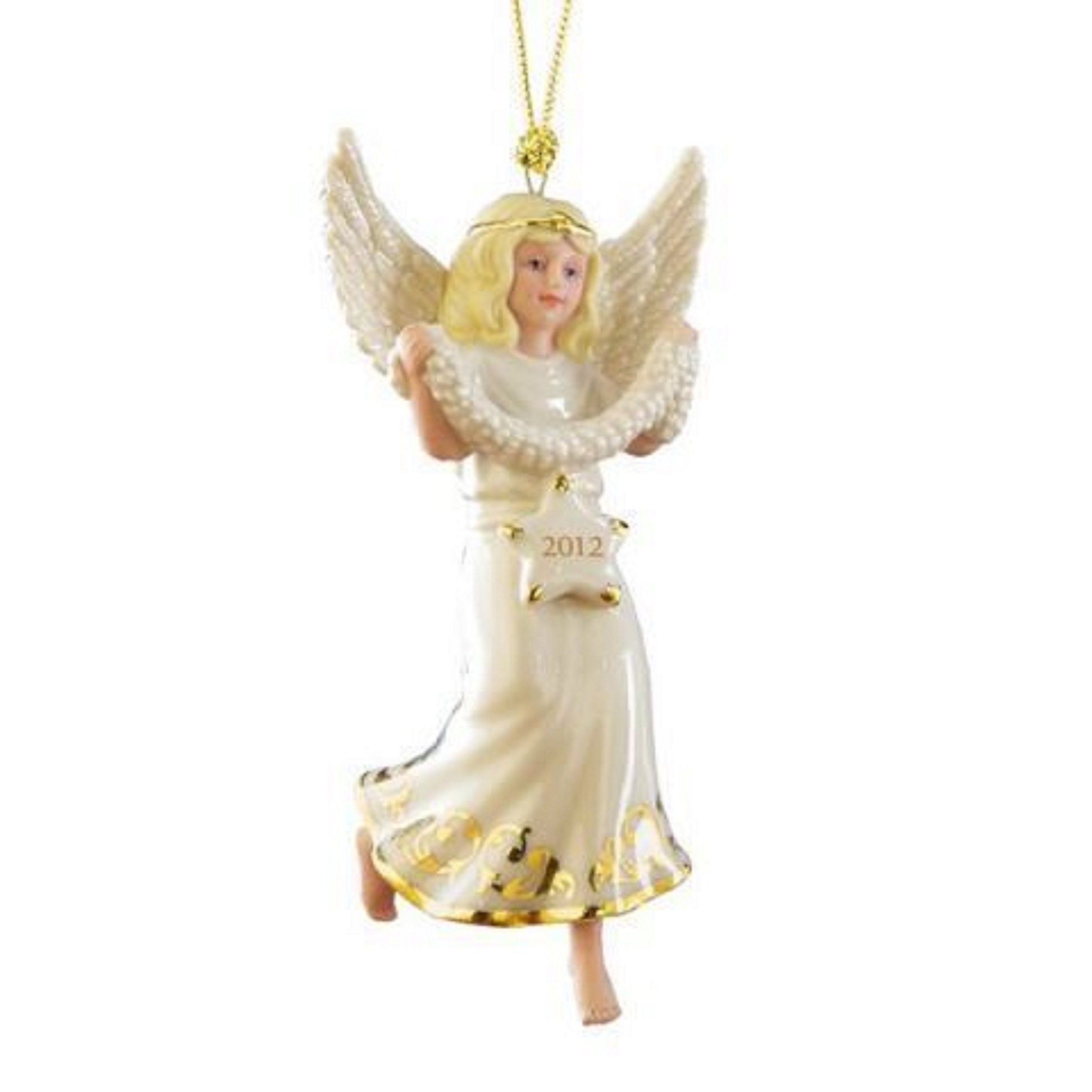 Lenox Christmas 2012 Annual Stargazer Angel Ornament Blonde Figurine Limited Edition