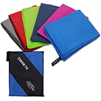 Microfibre Towel, Zoegate S XL XXL Microfibre Sports & Travel Bath Towel Quick Dry Micro Gym Towels Lightweight and Highly Absorbent Beach Towel, Sport Towel with zip carry bag for the Camping Swimming