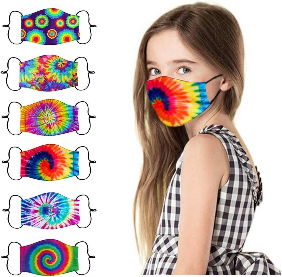 6 protectores faciales para niños y niñas, reutilizables, transpirables, cómodos, para actividades al aire libre, actividades al aire libre, uso diario