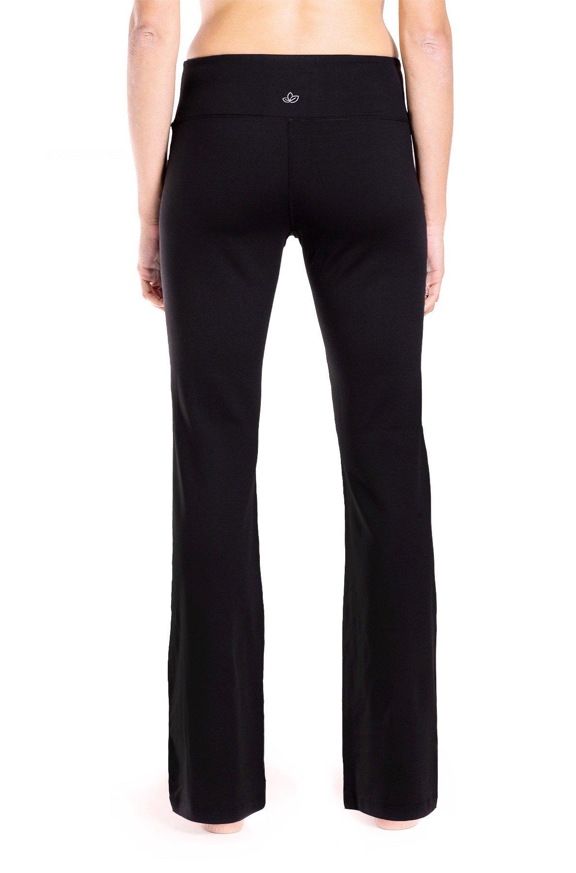 Yogipace 27''/28''/29''/30''/31''/32''/33''/35''/37'' Inseam,Petite/Regular/Tall, Women's Bootcut Yoga Pants Long Workout Pants, 29'', Black Size XS by Yogipace (Image #4)