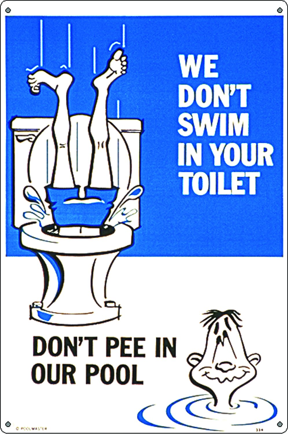 Poolmaster 41334 Toilet No. 1 Sign for Residential Pools