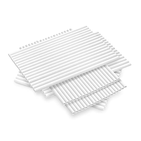 Ditch Plastic 100 Pack (4800-Case Avail) Paper Straws Biodegradable Made in  USA Bulk Durable Compostable Drinking Straws Disposable Eco Friendly
