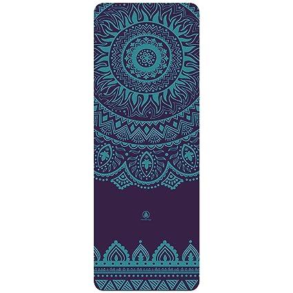 Homfa Esterilla Yoga Antideslizante Yoga Mat 2-in-1 de Tapete y Toalla Double Capa 4.2mm de Grosor Colchoneta de Yoga de Caucho Natural 185 x 67.4cm