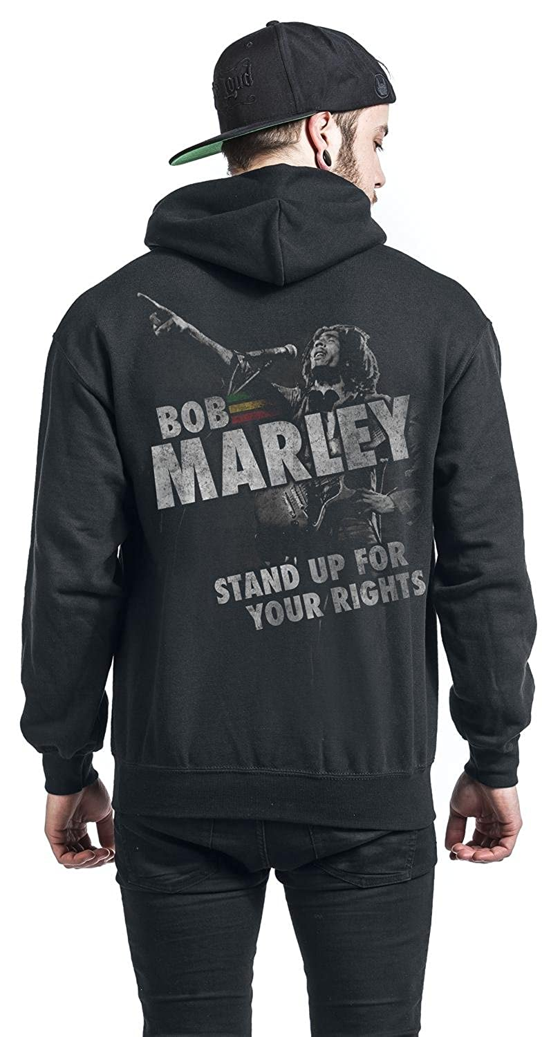 Bob Marley Stand Up For Your Rights Sudadera con capucha Negro M: Amazon.es: Ropa y accesorios