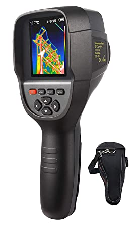 220 x 160 IR Resolution Infrared Thermal Imager, Handheld 35200 Pixels Thermal Imaging Camera,Infrared Thermometer with 3.2 Color Display Screen Battery Included