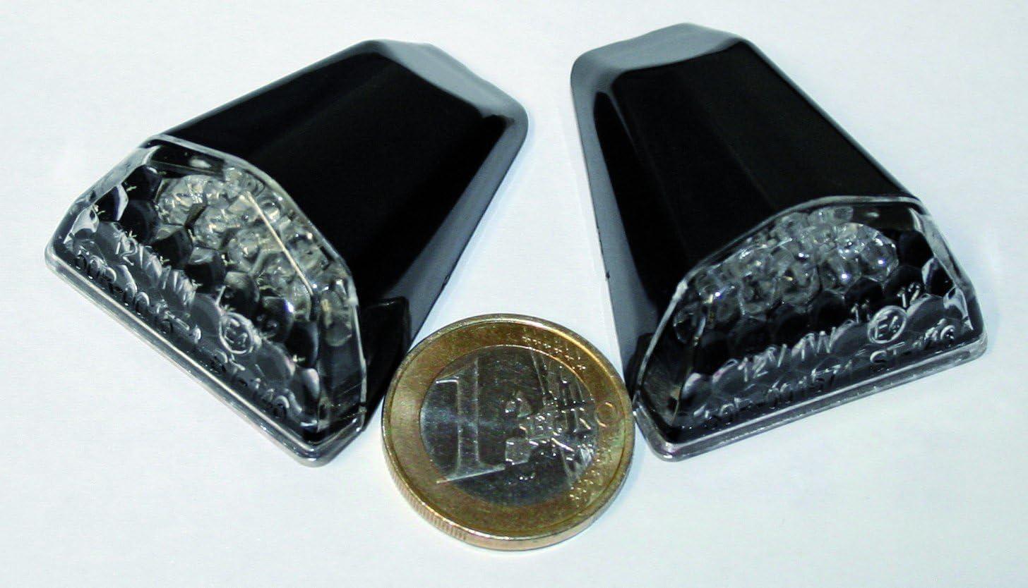 Klarglas Verkleidungsblinker SWIFT schwarz Paar