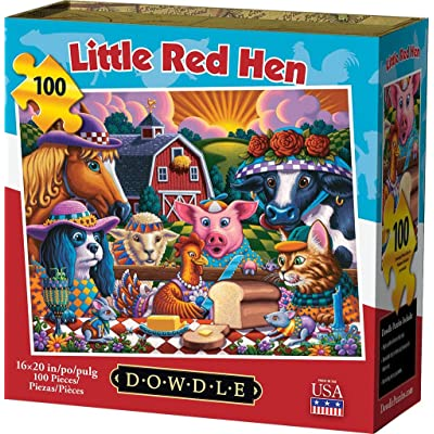Dowdle Jigsaw Puzzle - Little Red Hen - 100 Piece: Toys & Games