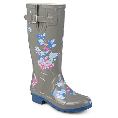 Amazon Journee Collection Womens Patterned Rubber Rain Boots Mesmerizing Patterned Rain Boots