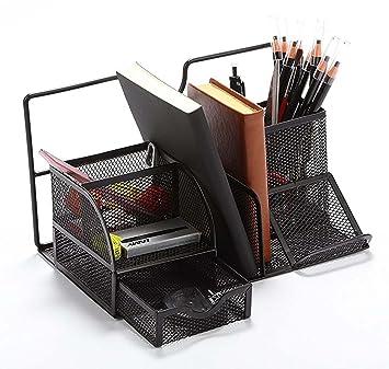 Vencer Versatile Office Supply Caddy, Desk Organizer And File Stand (Black)  VOO