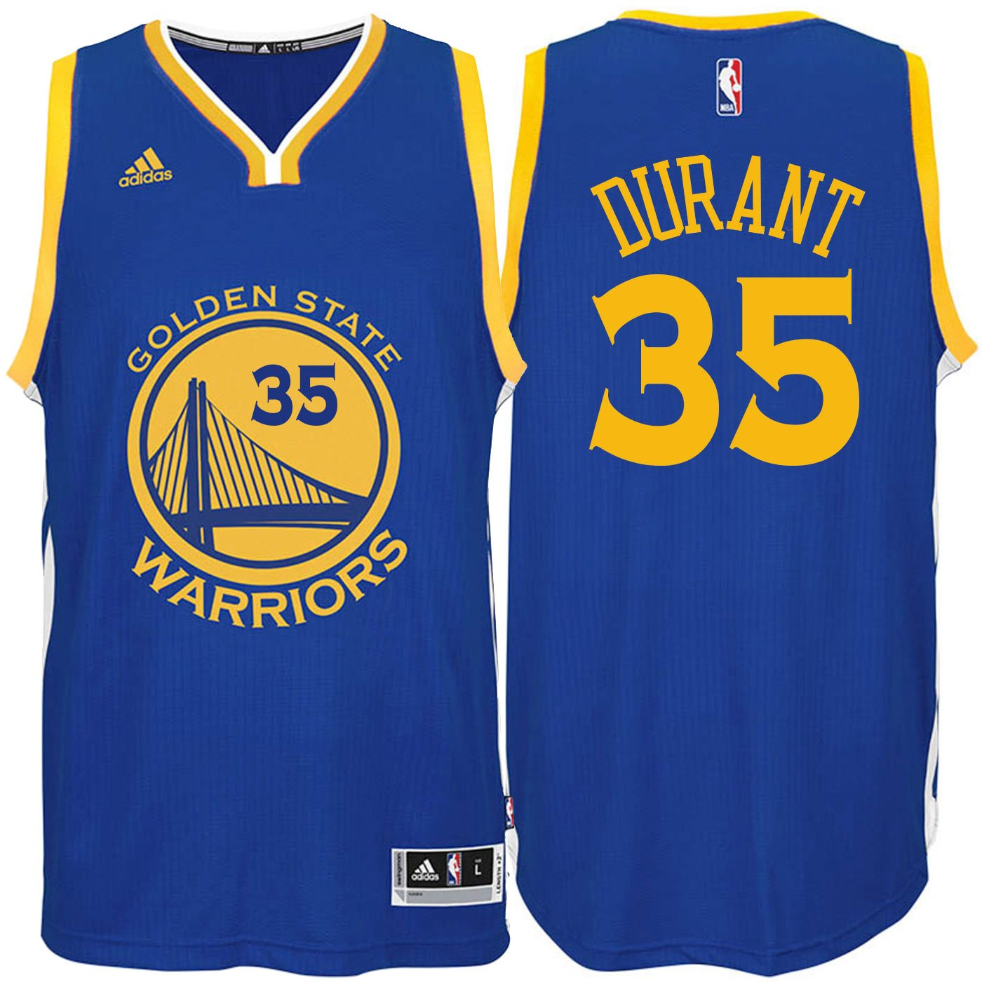 4b0f2790dcb7d Amazon.com: Kevin Durant Golden State Warriors #35 Blue Youth Road ...