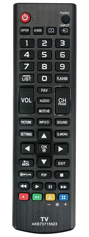AKB73715623 交換用リモコン LG TV 22LN4500 26LN4500 22LN4510 24LN4510 29LN4510用   B07NS41RX7