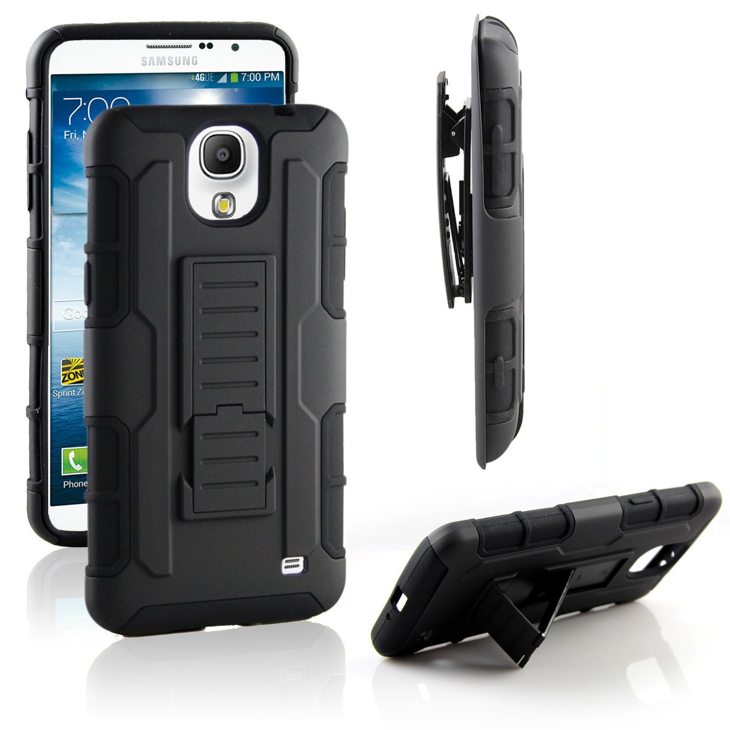 brand new 8f993 ef4aa Galleon - Samsung Galaxy Mega 2 Case, RANZ Black Rugged Impact Armor ...