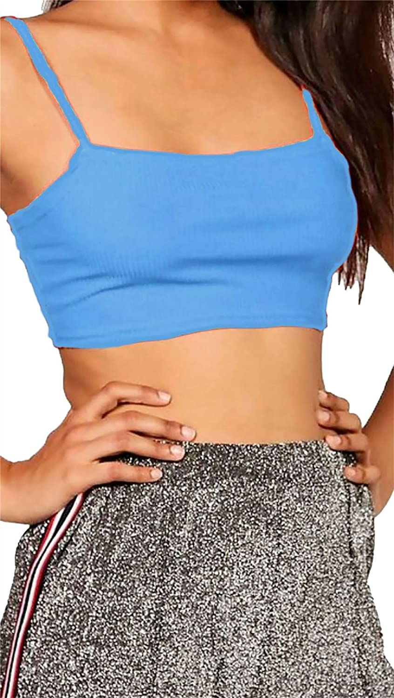 Women/'s Ladies Plain Strappy Bralet Bra Crop Top Vest Casual Sports Wear