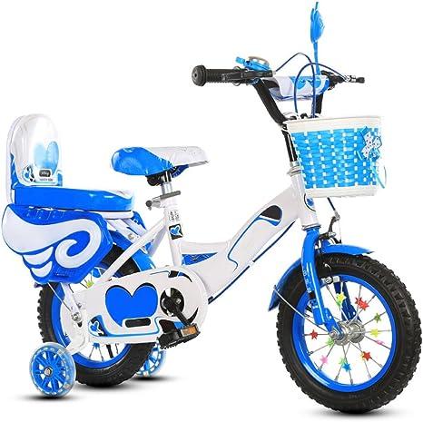 Niños Bicicleta Niños Niñas Estudiante Niños Pequeños Bebé Para Niños Bicicleta Ajustable Neumáticos Mejorados Alto Carbono Con Asiento Trasero De Acero Macho Y Hembra Cómodo Frenos Seguros Bicicleta Regalo De Moda: Amazon.es: