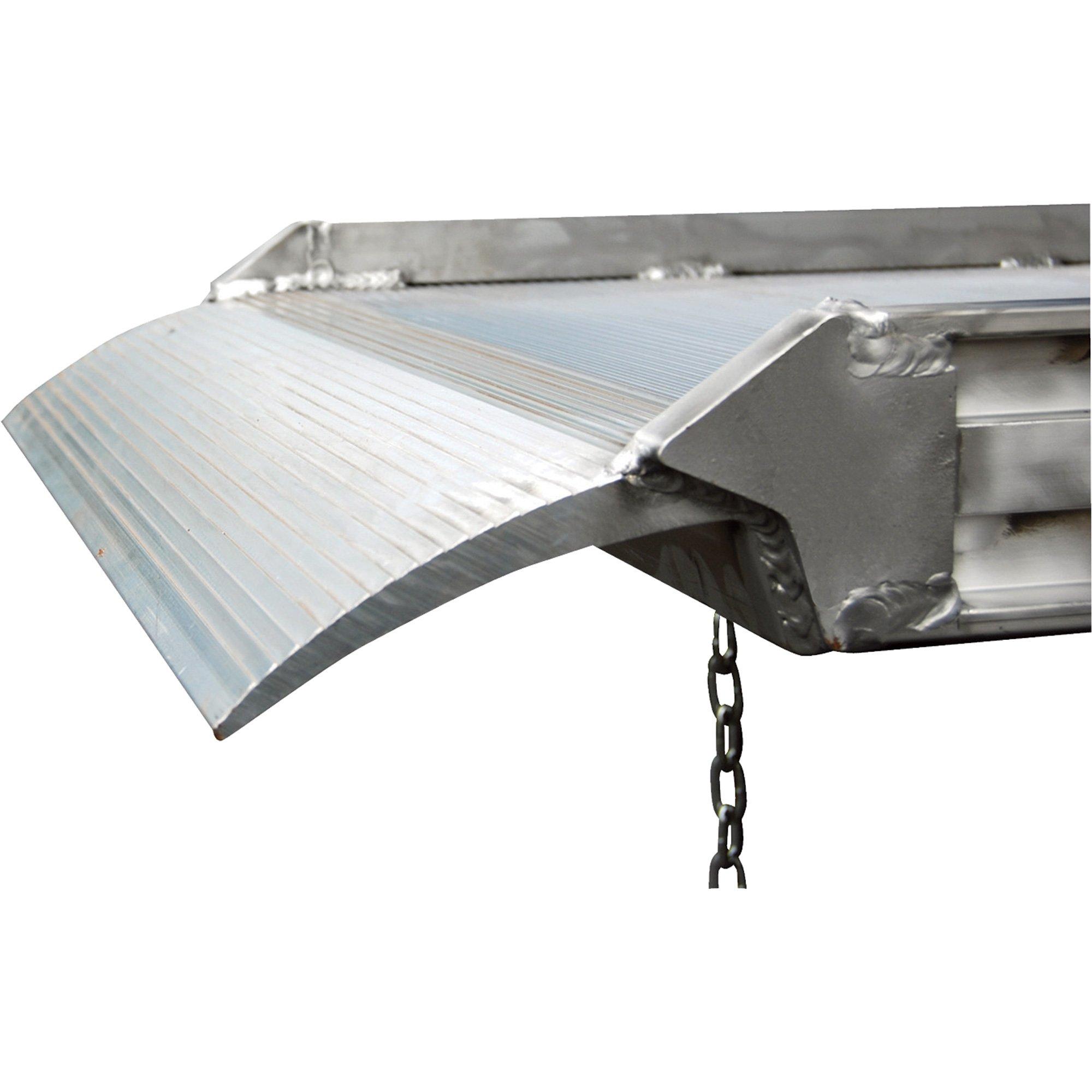 Vestil AWR-38-8A Aluminum Walk Ramp Overlap Style, 2500 lb., 96'' Length, 38'' Width, 4.75'' Height