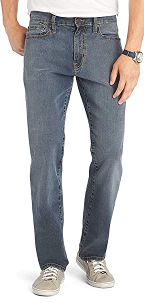 IZOD Mens Big & Tall Comfort Stretch Jeans – Relaxed Fit Denim